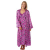 Matching Fuchsia Floral Satin Full Length Nightdress and Wrap Set - Just For You Boutique