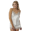 Ivory Satin and Lace Cami Set with French Knickers - Just For You Boutique