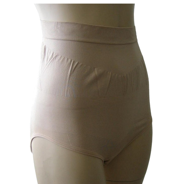 Nude Natural High Waist Tummy Control Brief Knickers Shapewear with Silicone Grips - Just For You Boutique