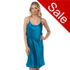 Sale Plain Teal Satin Chemise Nightie