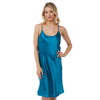 Plain Teal Satin Chemise Nightie PLUS SIZE