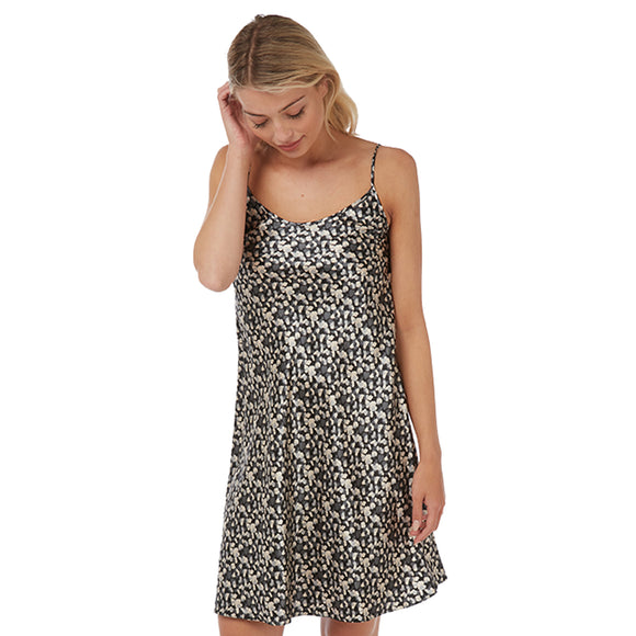 Grey Confetti Spot Satin Chemise Nightie