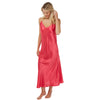 Long Full Length Plain Coral Pink Satin Chemise Nightdress PLUS SIZE