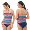Halterneck Tankini Set Swimwear Halterneck Adjustable Strap Low Leg