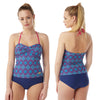Navy Blue Tankini Set Swimwear Full Brief PLUS SIZE