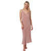Long Full Length Plain Blush Pink Satin Chemise Nightdress PLUS SIZE