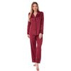 Burgundy Red Satin PJs Pyjamas