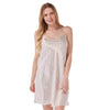 Ivory Burst Pattern Satin Chemise Nightie