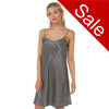 Sale Black Spot Satin Chemise Adjustable Straps