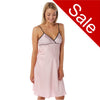 Sale Pink Stripe Satin Chemise PLUS SIZES Adjustable Straps Knee Length