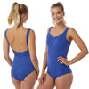 Bright Blue Swimming Costume Bathing Swimsuit PLUS SIZE