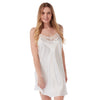 Plain Ivory Satin and Lace Chemise PLUS SIZE