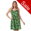 Sale Tropical Leaf Pattern Satin Chemise Nightie