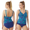 Animal Print Tankini Set Swimwear Full Brief PLUS SIZE