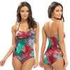 Tropical Swimming Costume Bathing Swimsuit Halterneck Detachable Straps