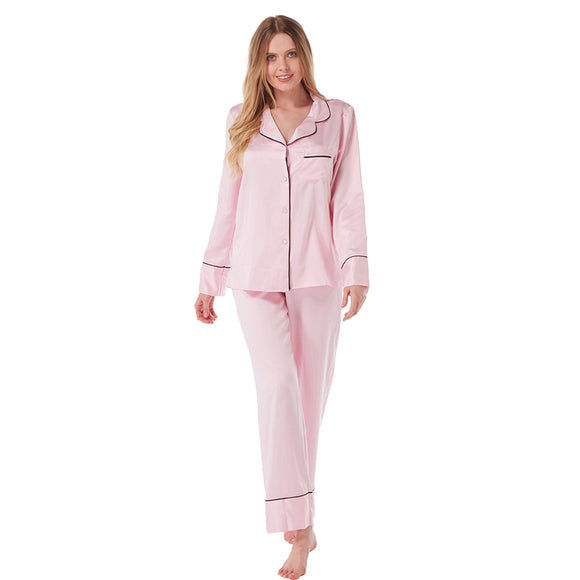 Light Pink Satin PJs Pyjamas
