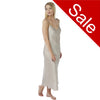Sale Long Full Length Satin Pewter Silver Nightdress