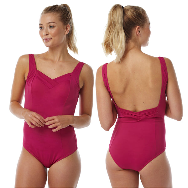 Plus Size Pink Swimming Costume Bathing Swimsuit One Piece