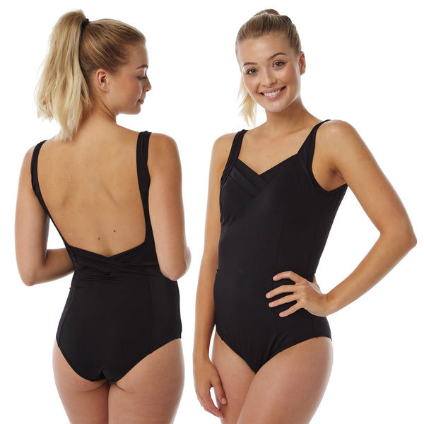 Black Swimming Costume Bathing Swimsuit PLUS SIZE
