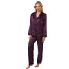 Plain Purple Satin Pyjamas PJs PLUS SIZE