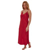 Long Full Length Red Satin Chemise Nightdress PLUS SIZE