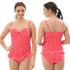 Red Polka Dot Skirted Swimming Costume Bathing Swimsuit