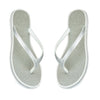 Silver Sparkle Toe Posts Flip Flops Beach Sandals