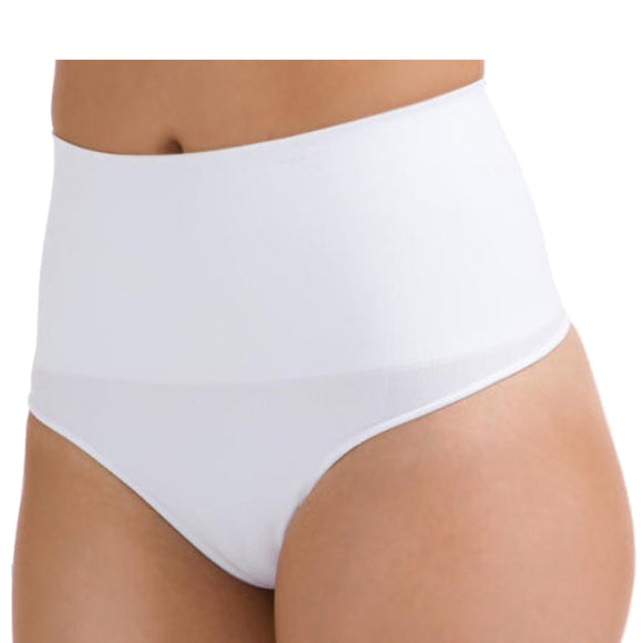Seamless Tummy Bum Control Brief Knickers Shapewear White