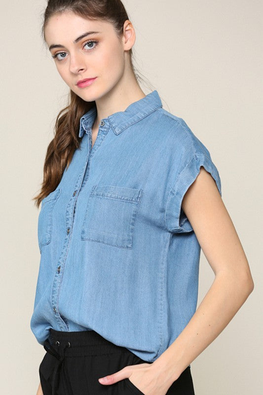 Days & Nights of Denim Top
