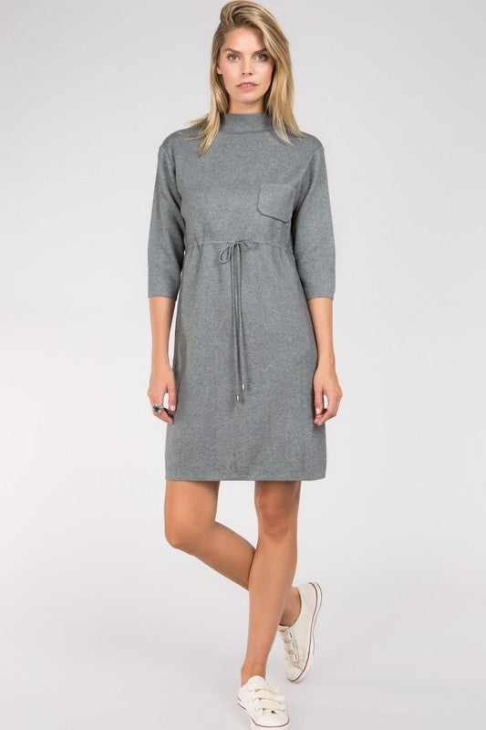 Gather Around Sweater Dress