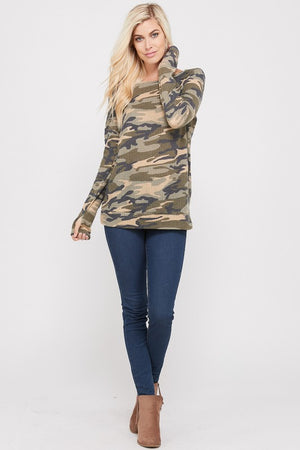 Warm Up & Hide Out Camo Top