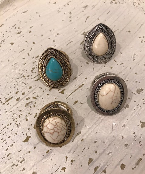 Assorted Rings With Stone