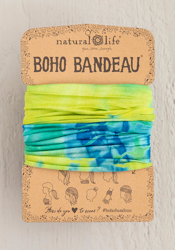 Yellow & Green Tie-Dye Boho Bandeau
