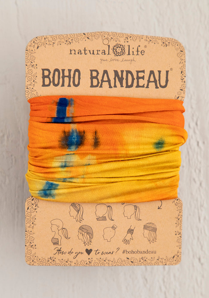Orange & Yellow Tie-Dye Tie Dye Boho Bandeau