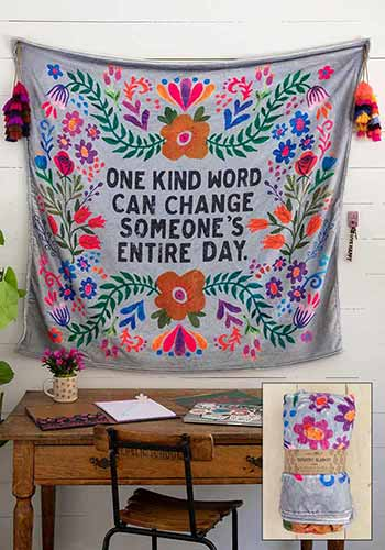 One Kind Word Tapestry Blanket