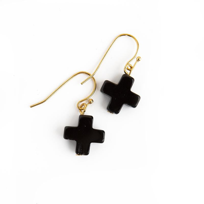 Faith Over Fear Cross Drop Earrings - Lenny & Eva