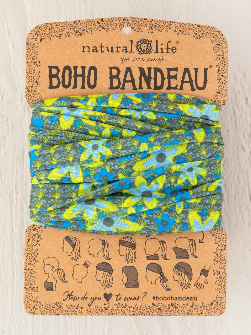 Blue & Green Boho Bandeau