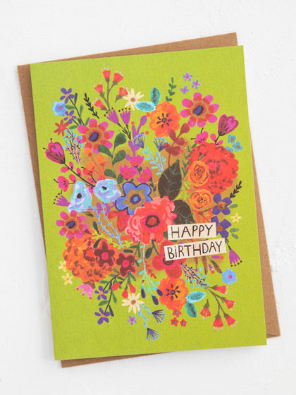 Happy Birthday Greeting Card Art Print