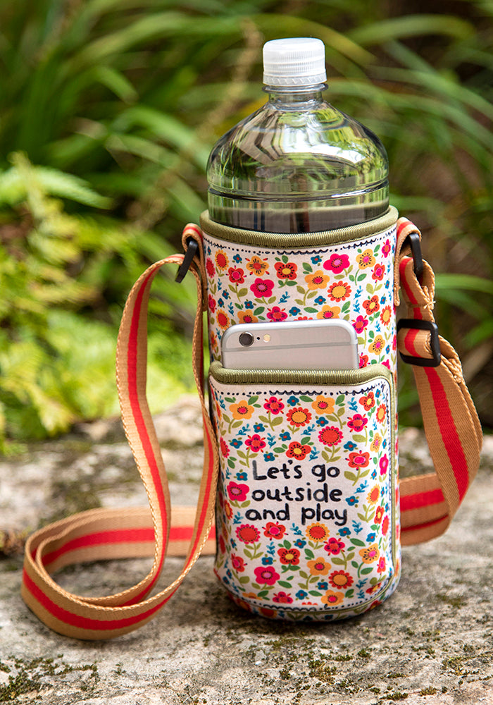 Water Bottle Carrier - Let's Go Outside & Play