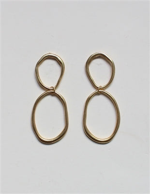 Two Circle Drop Earrings