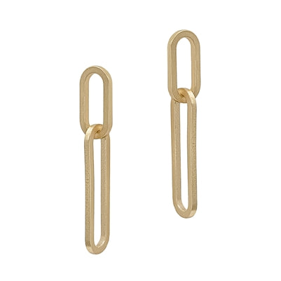 Matte Double Link Earring