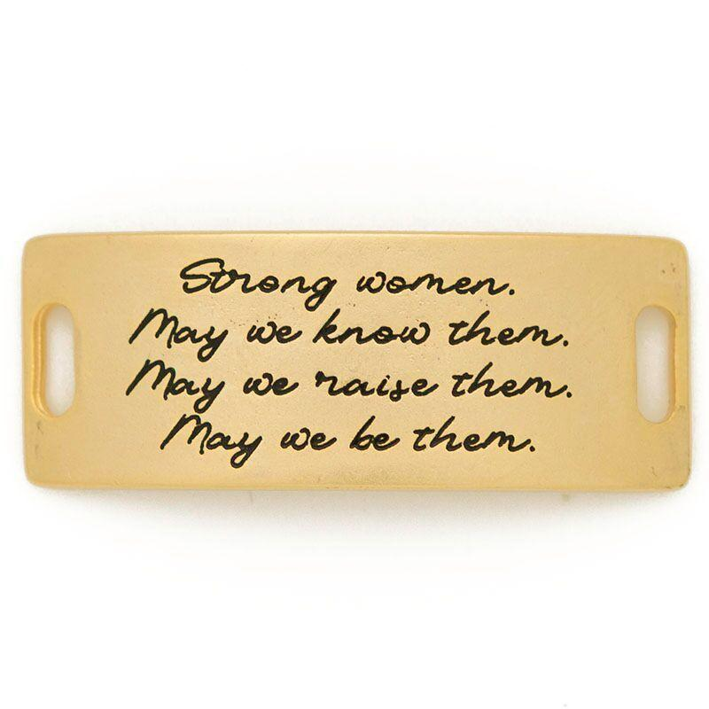 """Strong women. May we know them. May we raise them. May we be them."" Sentiment - Lenny & Eva"