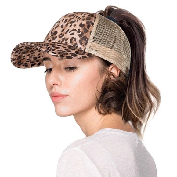 Hot Hair Days Ponytail Hat
