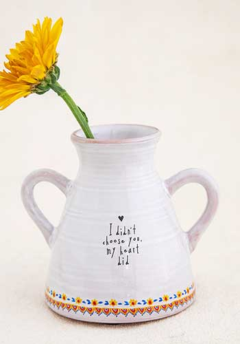 "Artisan Bud Vase ""I Didn't Choose You, My Heart Did"""