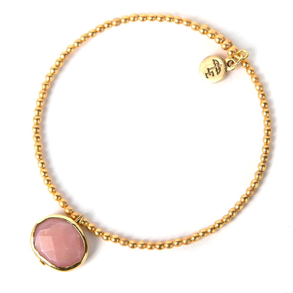 Just Breathe Pink Opal Ava Gemstone Bangle - Lenny & Eva