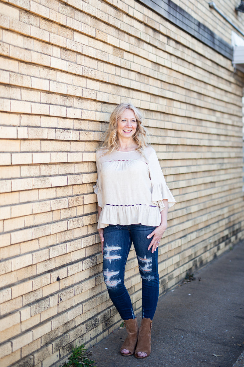 Ruffle It Up Short Sleeve Top