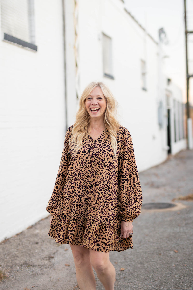 Raging Ruffles Cheetah Print Dress
