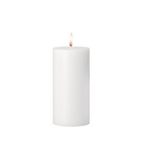 White Pillar Candle to add to a Tree Gift Hamper