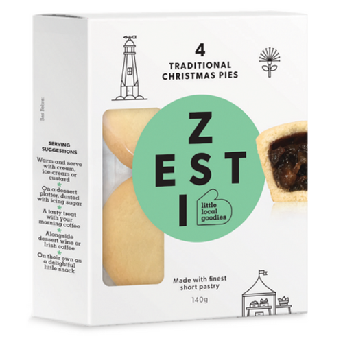 Zesti NZ Christmas Fruit Mince Pies 4 Pack