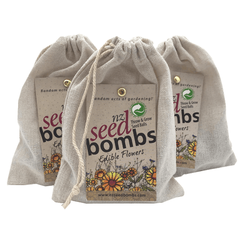 Edible Flowers Seed Bombs NZ from Tree Gifts NZ - Bag of 6